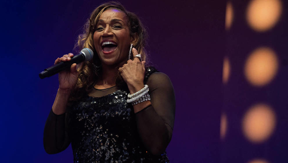 Kathy Sledge live am 18. August 2019 in Henley-on-Thames, England.