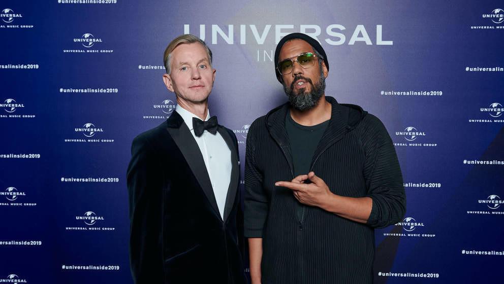 """Max Raabe und Samy Deluxe bei """"Universal Inside"""" 2019"""