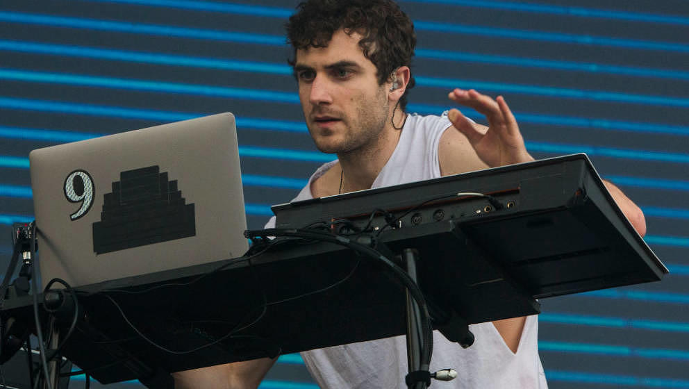 CHICAGO, IL - JULY 16:  Nicolas Jaar performs during 2017 Pitchfork Music Festival at Union Park on July 16, 2017 in Chicago,