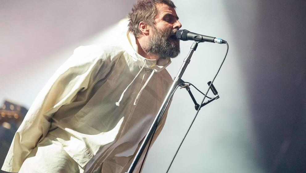 British singer Liam Gallagher performs on stage at the Gasometer in Vienna, Austria, on February 18, 2020. (Photo by GEORG HO