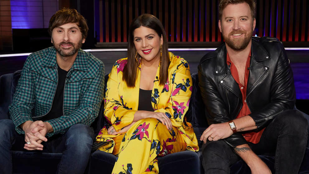 SONGLAND -- 'Lady Antebellum' Episode 201 -- Pictured: (l-r) Dave Haywood, Hillary Scott, Charles Kelley of Lady Antebellum -