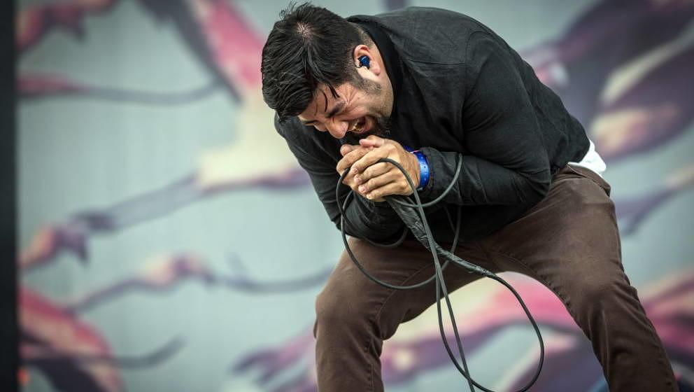 Denmark, Copenhagen - June 22, 2018. The American rock band Deftones performs a live concert during the Danish heavy metal fe
