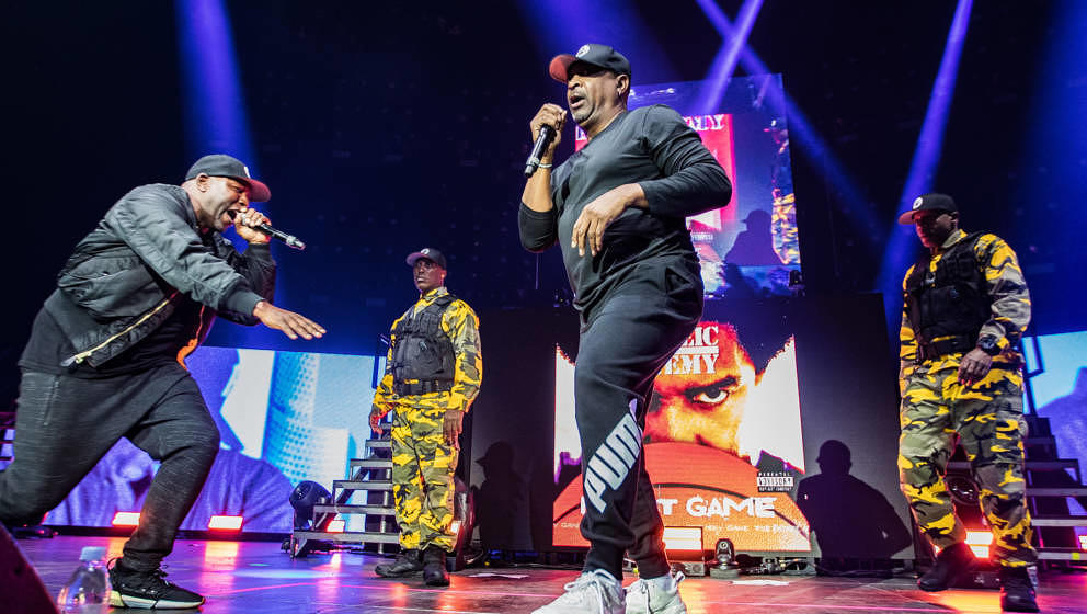 American hip hop group Public Enemy perform on stage at Ziggo Dome as part of their Gods of Rap tour, Amsterdam, Netherlands,
