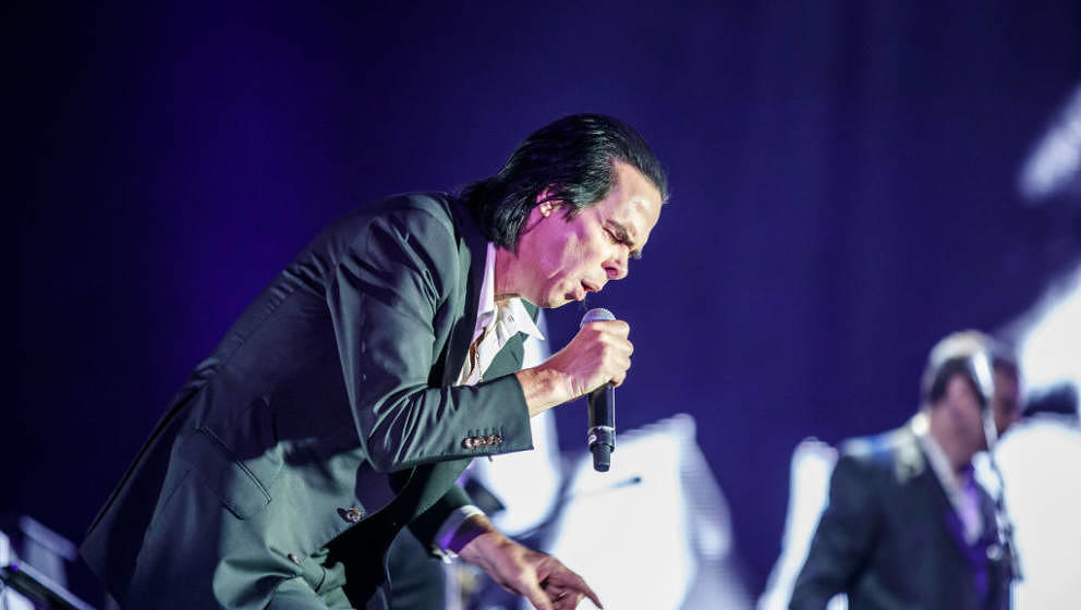 BARCELONA, SPAIN - MAY 31:  (EDITORIAL USE ONLY) Nick Cave and the Bad Seeds perform in concert during day 2 of the Primavera