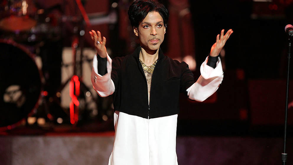 LOS ANGELES, CA - MARCH 19:  Musician Prince is seen on stage at the 36th NAACP Image Awards at the Dorothy Chandler Pavilion