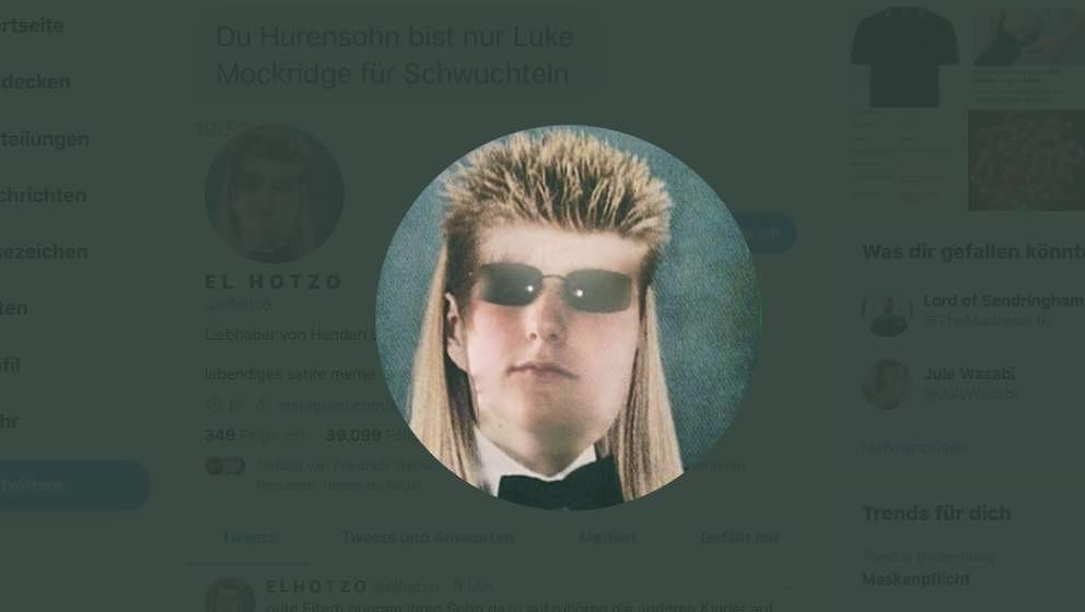 El Hotzos Profilbild auf Twitter. Eitel ist er nicht.