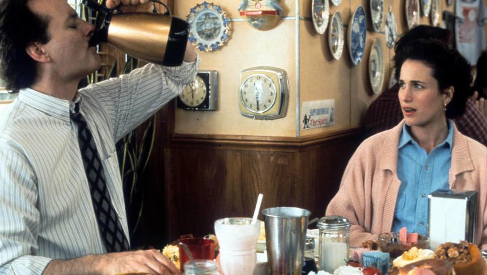 """Bill Murray und Andie McDowell in einer Szene aus """"Und täglich grüßt das Murmeltier"""" aus dem Jahr 1993."""