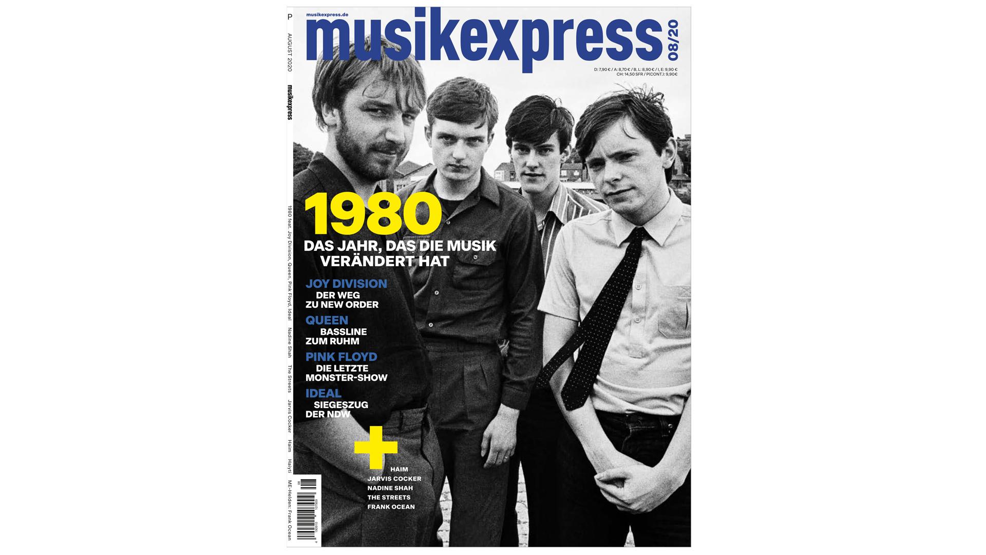Mit großem 1980-Special, Joy Division, Queen, Nadine Shah und Frank Ocean: Der neue Musikexpress ist da!