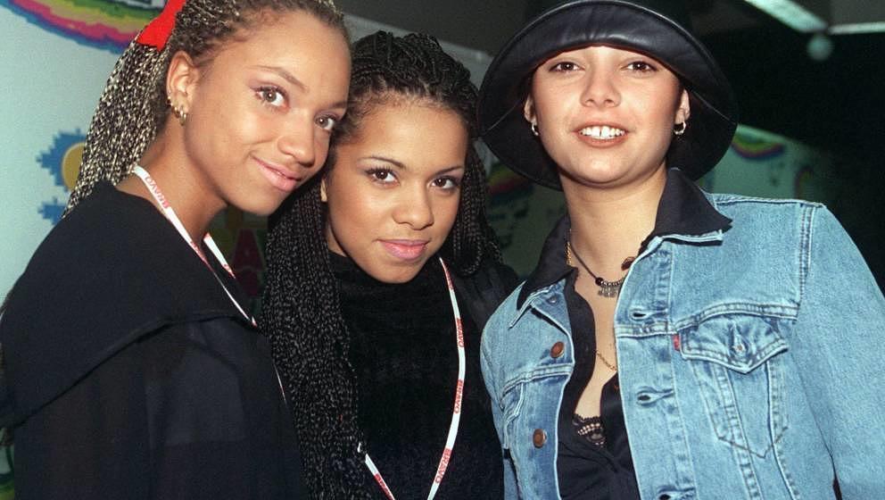 Die deutsche Girlie-Popband 'Tic Tac Toe' (Archivbild vom 7.2.1997) ist mit ihrem deutschsprachigen HipHop sehr erfolgreich.