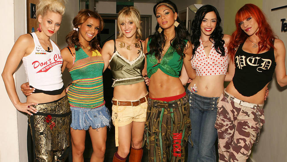American pop girl group, The Pussycat Dolls, circa 2005. From left to right they are Kimberly Wyatt, Melody Thornton, Ashley