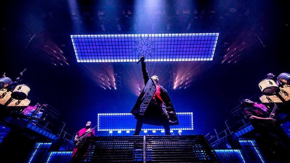 Slipknot während eines Live-Konzerts: Ein Spaß für Jung und Alt