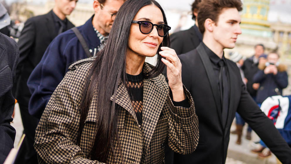 Schauspielerin Demi Moore am 25. Februar 2020 bei der Paris Fashion Week.