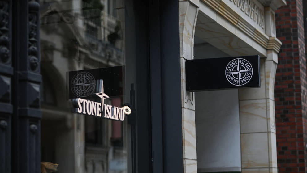 HAMBURG, GERMANY - JULY 03: A Stone Island sign store is seen on July 03, 2020 in Hamburg, Germany. (Photo by Jeremy Moeller/