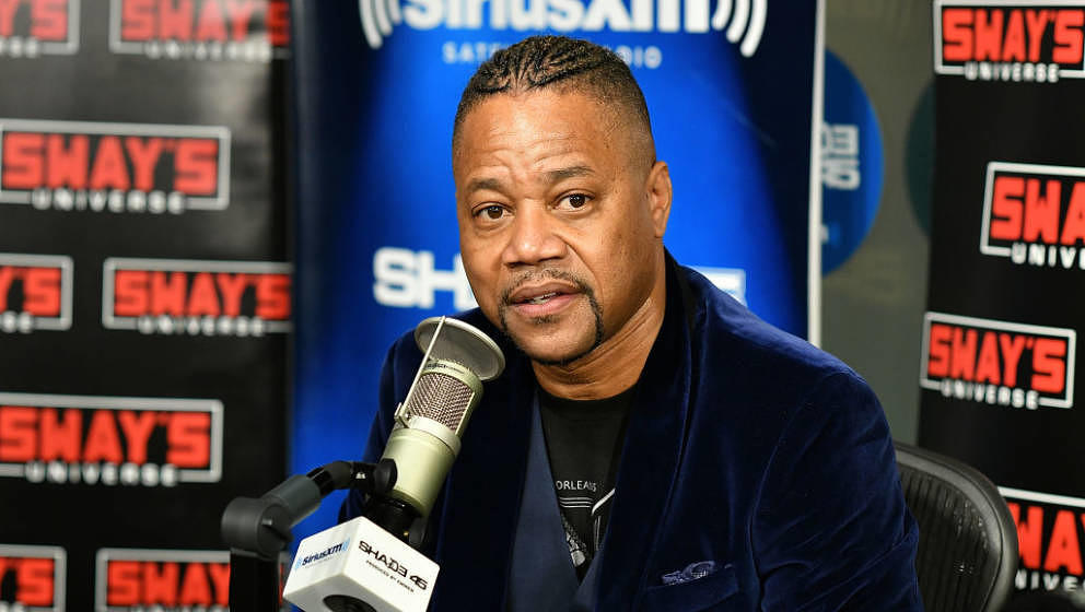 NEW YORK, NY - OCTOBER 04:  (EXCLUSIVE COVERAGE) Actor/director Cuba Gooding Jr. visits Sway's at SiriusXM Studios on October