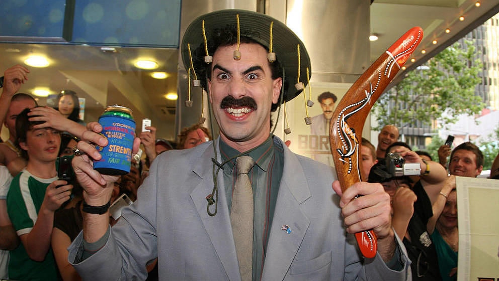 Sacha Baron Cohen as ''Borat'' during Borat Premiere- Red Carpet at Greater Union Cinema, George Street in Sydney, NSW, Austr