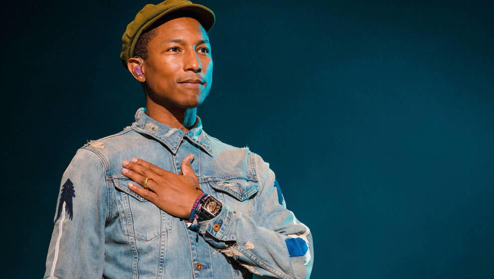 Pharrell Williams beim Lollapalooza-Festival in Sao Paulo, Brasilien, am 29. März 2015.