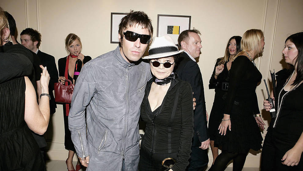 LONDON - OCTOBER 10: Oasis member Liam Gallagher and John Lennon's widow, artist Yoko Ono, attend The Q Awards, the annual ma