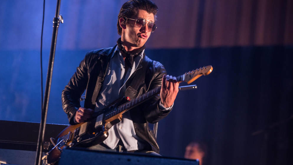 BUENOS AIRES, ARGENTINA - MARCH 30: Alex Turner of Arctic Monkeys performs during the second day of Lollapalooza Buenos Aires