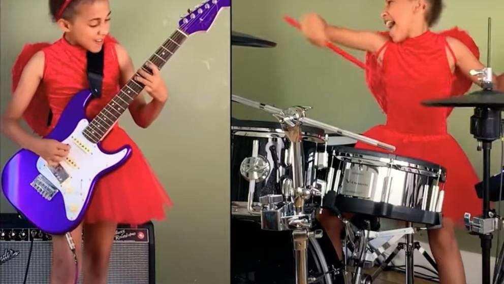 "Nandi Bushell performt Metallicas ""Enter Sandman""."