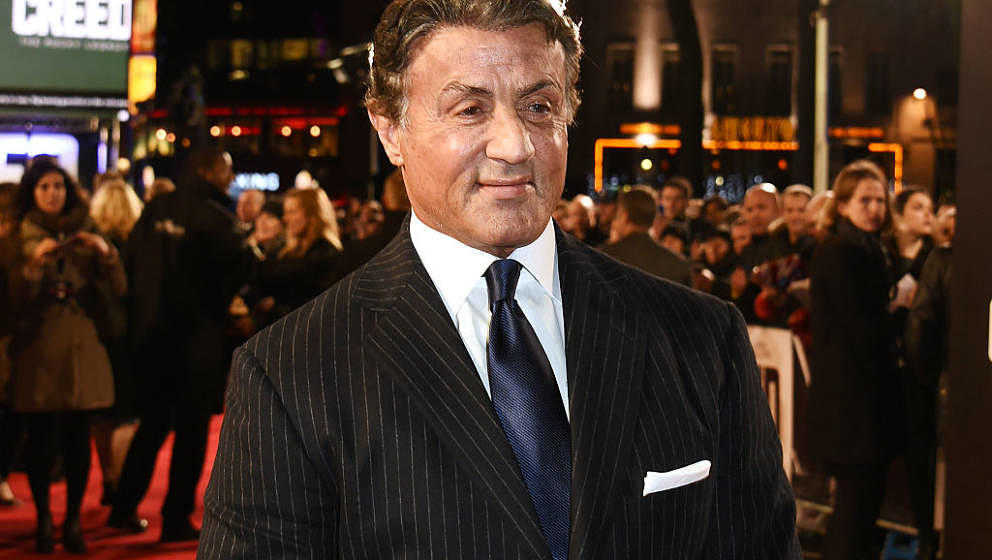 LONDON, ENGLAND - JANUARY 12:  Sylvester Stallone attends the European Premiere of 'Creed' at Empire Leicester Square on Janu