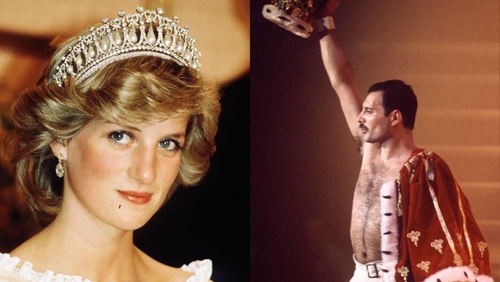 Lady Diana und Freddie Mercury