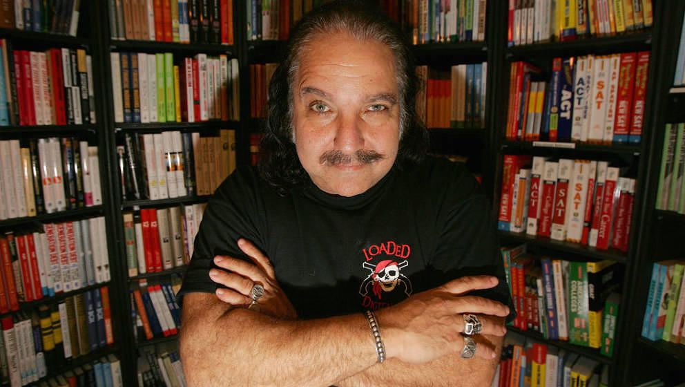 BEVERLY HILLS, CA - FEBRUARY 15:  Author and porn star Ron Jeremy signs copies of his self-titled book 'The Hardest (working)