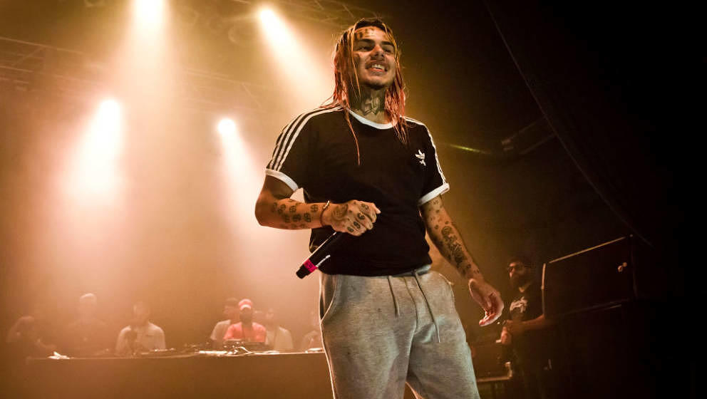 BERLIN, GERMANY - JULY 07: American rapper Tekashi 6ix9ine performs live on stage during a concert at the Huxleys on July 7,