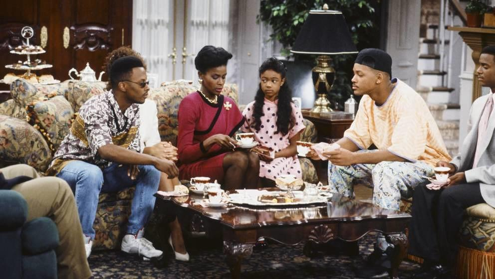 THE FRESH PRINCE OF BEL-AIR -- 'Bang the Drum Ashley' Episode 2 -- Pictured: (l-r) Jeffrey A. Townes as Jazz, Janet Hubert as