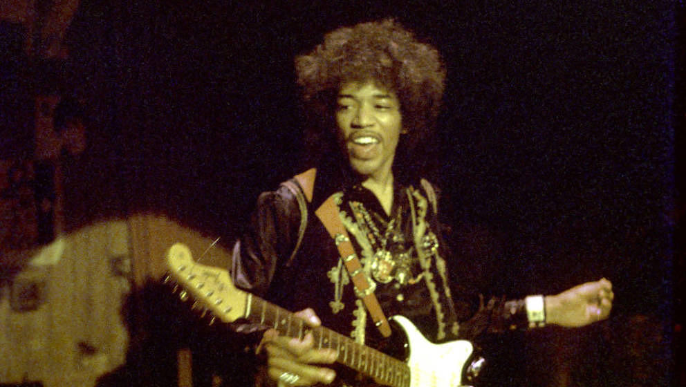 1968: Guitarist Jimi Hendrix performs onstage in 1968. (Photo by Michael Ochs Archives/Getty Images)