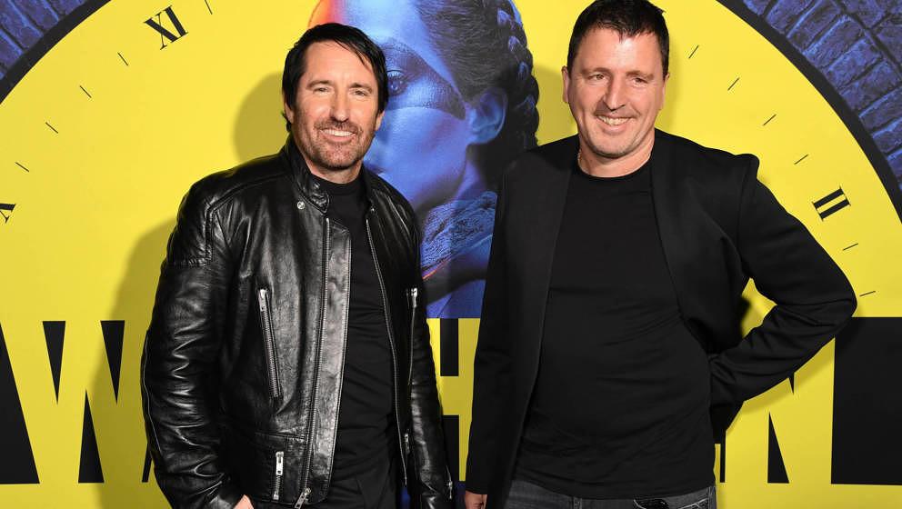 """Trent Reznor (L) und Atticus Ross bei der Premiere der neuen HBO Serie """"Watchmen"""" am 14. Oktober 2019 in Los Angeles."""