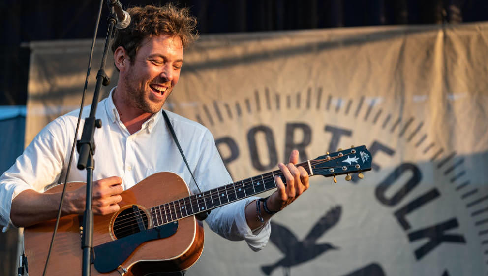 NEWPORT, RHODE ISLAND - JULY 28: Robin Noel Pecknold of the Fleet Foxes performs during 'If I Had A Song', closing the 60th a