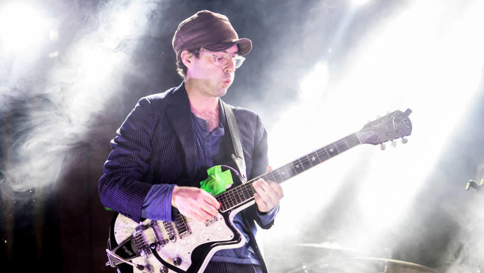 BARCELONA, SPAIN - JANUARY 13:  Alec Ounsworth of Clap Your Hands Say Yeah performs in concert at Sala Apolo  on January 13,