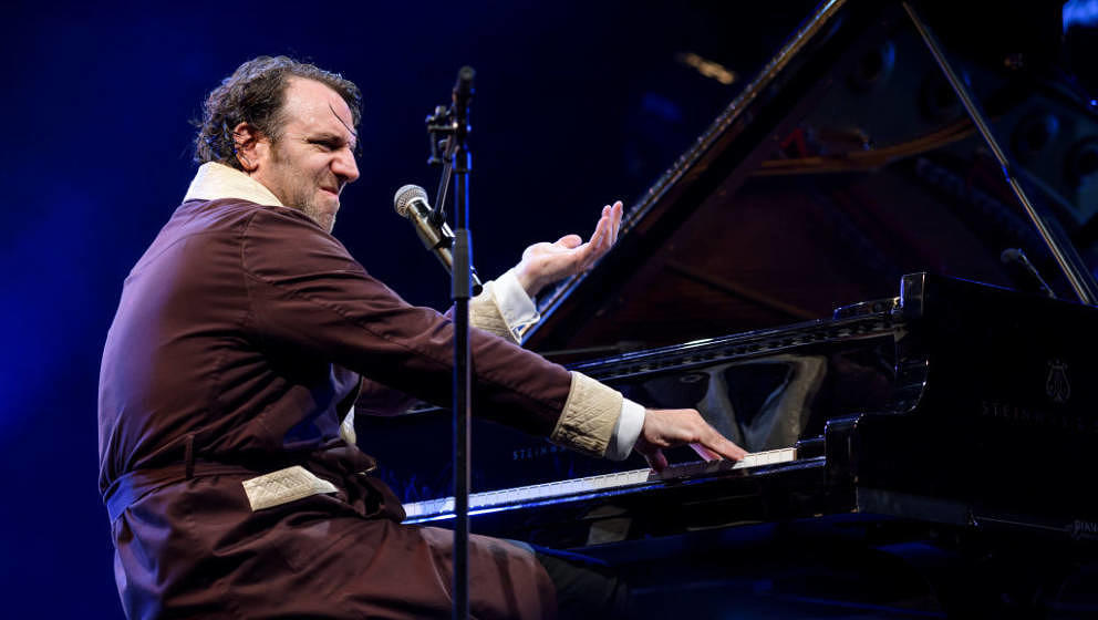 Canadian pianist and songwriter Chilly Gonzales performs during the 51st Montreux Jazz Festival on July 2, 2017 in Montreux.