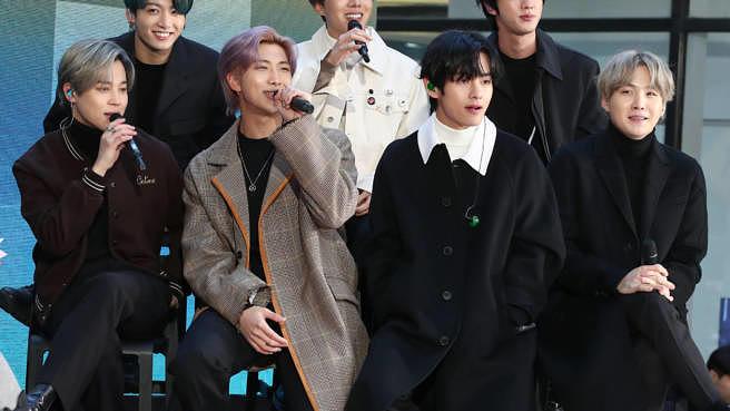 """K-Pop-Band BTS bei der """"Today""""-Show am 21. Februar 2020 in New York."""