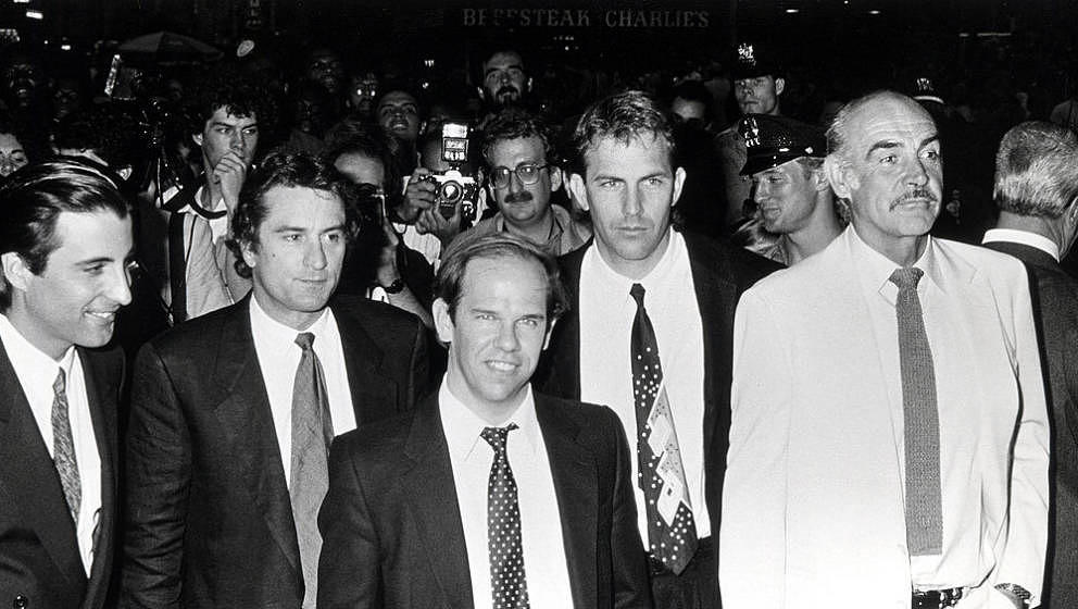 Andy Garcia, Robert De Niro, Charles Martin Smith, Kevin Costner and Sean Connery at the premiere of 'The Untouchables' - Jun