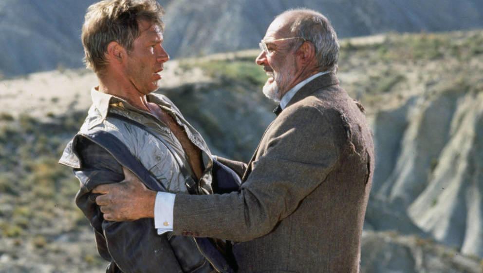 Harrison Ford und Sean Connery in ihrer Rolle als Vater und Sohn.