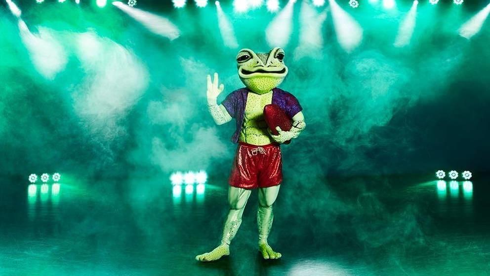 In dem Frosch-Kostüm versteckte sich ein bekannter Komiker.