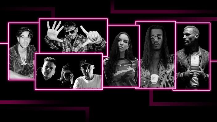 Alle Nominierten in der Kategorie 'Bester HipHop-Act' bei der 1LIVE Krone 2020.