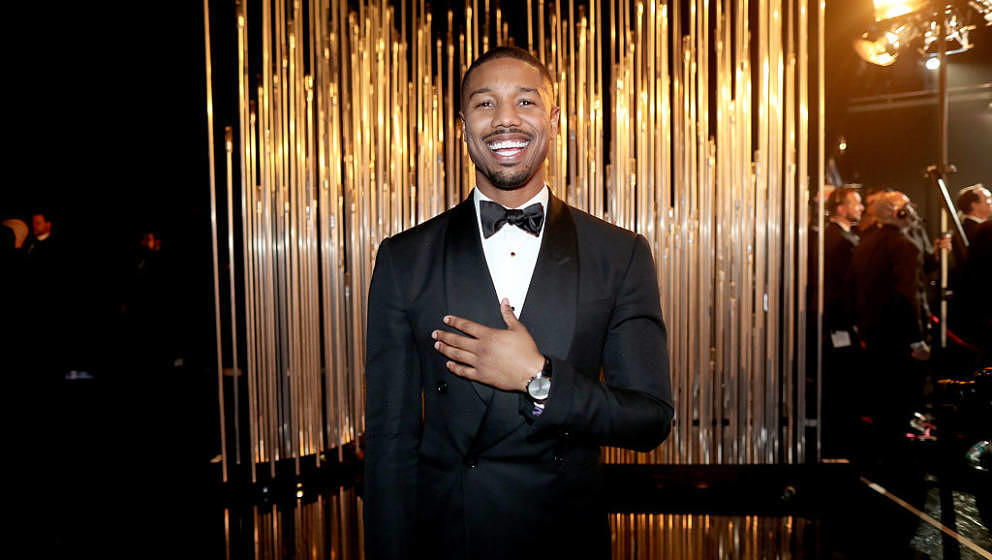 HOLLYWOOD, CA - FEBRUARY 28: Actor Michael B. Jordan backstage at the 88th Annual Academy Awards at Dolby Theatre on February