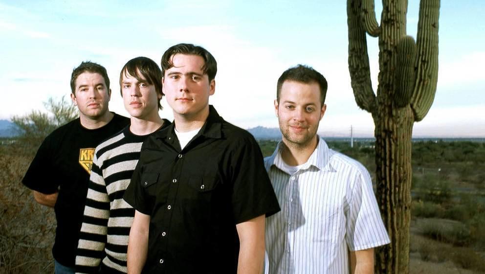Jim Adkins, Rick Burch, Zac Lind und Tom Linton: Jimmy Eat World, hier schon im Jahr 2001 zu BLEED AMERICAN-Zeiten