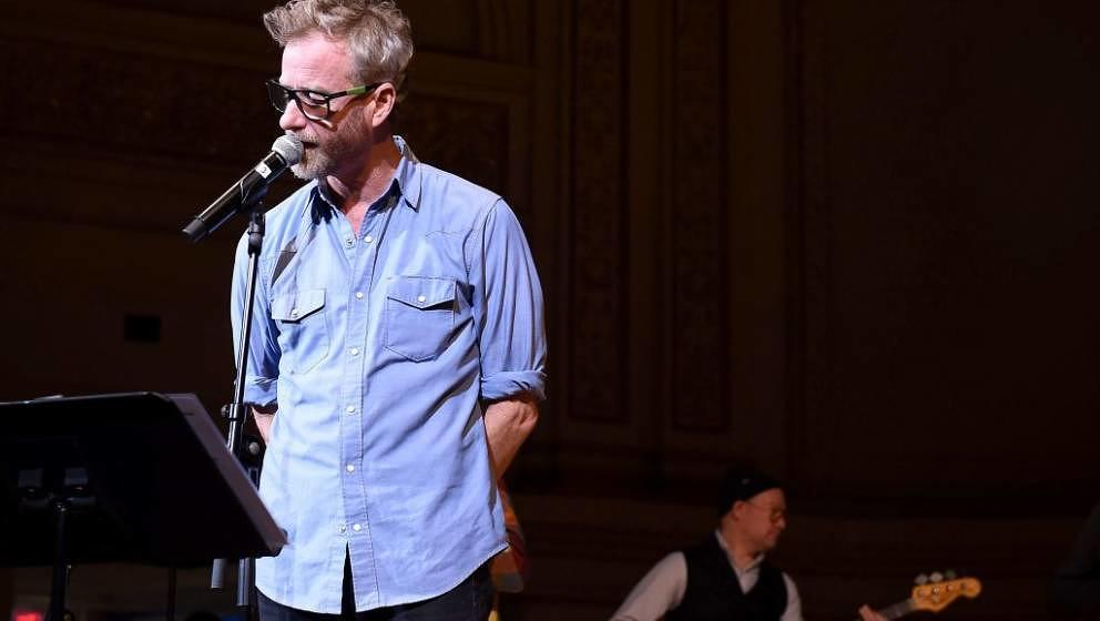 NEW YORK, NEW YORK - FEBRUARY 26: Matt Berninger rehearses on stage during the 33nd Annual Tibet House US Benefit Concert &am