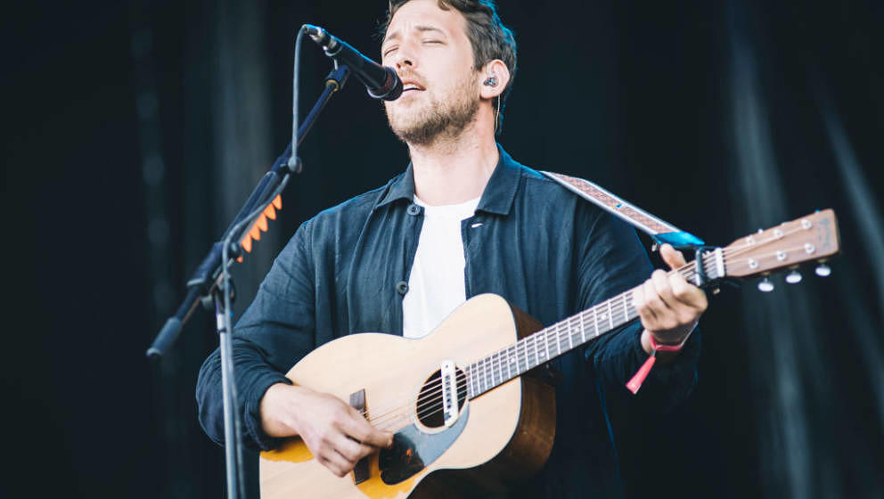 MADRID, SPAIN - JULY 12: Robin Pecknold from the American band Fleet Foxes performs in concert during Mad Cool Festival 2018