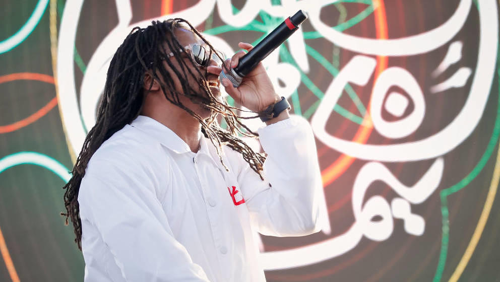 ALAMEDA, CA - MAY 28:  Lupe Fiasco performs at the 1st annual Ship Show Music Festival on May 27, 2017 in Alameda, California