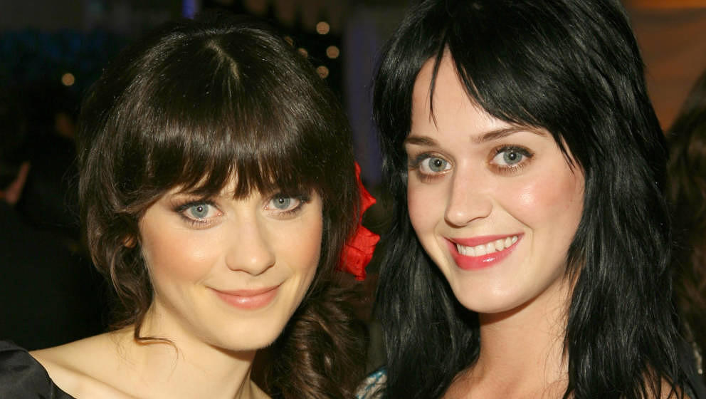 Zooey Deschanel and Katy Perry during Kid Art 2006: A Benefit for P.S. ARTS Sponsored by Cole Haan and Gagosian Gallery at Lo