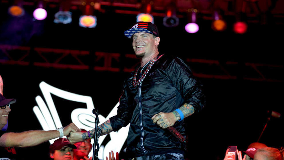 MIAMI, FL. - NOVEMBER 09: Vanilla Ice performance at Mega Beer and 90s Music Festival at Magic City Casino on November 9th, 2
