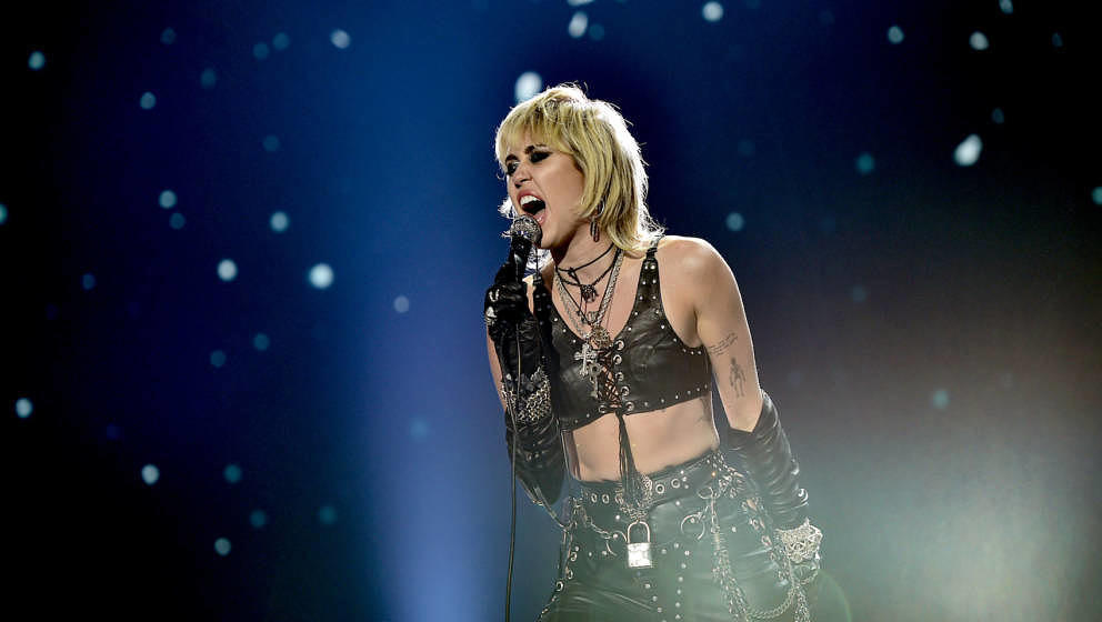 LOS ANGELES, CA – DECEMBER 31st: In this image released on December 31, Miley Cyrus performs at Dick Clark's New Year's Roc