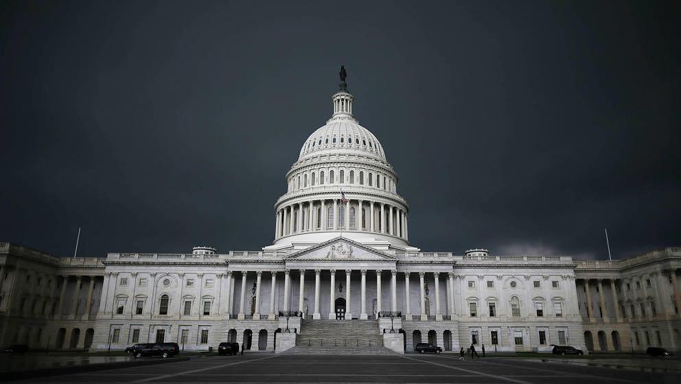 Das Kongress-Gebäude in der US-Hauptstadt Washington DC.