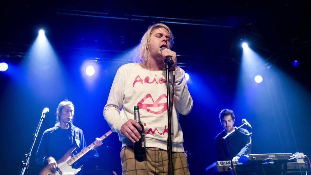 Ariel Pink am 11. März 2015 bei einem Konzert in Berlin.