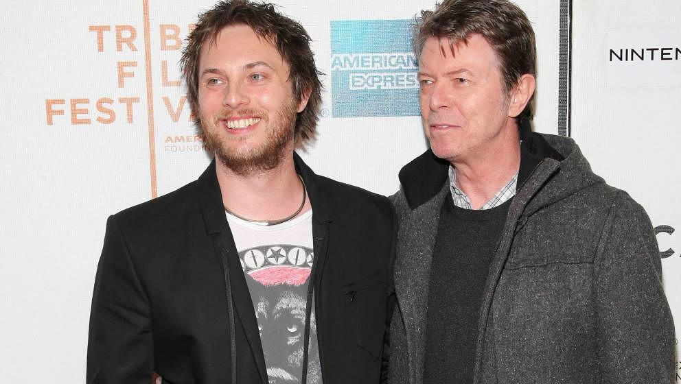 Duncan Jones und David Bowie 2009 zusammen in  New York City.