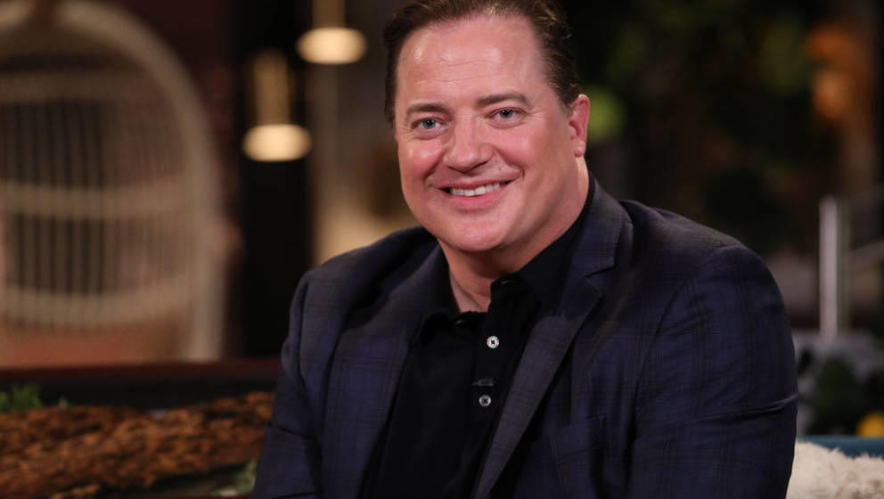 BUSY TONIGHT -- Episode 1103 -- Pictured: Surprise guest Brendan Fraser on the set of Busy Tonight -- (Photo by: Jordin Altha